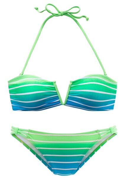 Bademode - Bikini › VENICE BEACH › neongrün himmelblau weiß  - Onlineshop ABOUT YOU