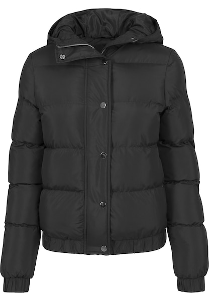 Jacken für Frauen - Urban Classics Hooded Puffer Jacket schwarz  - Onlineshop ABOUT YOU
