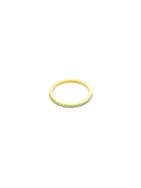 Ringe für Frauen - ID Fine Ring 'Green Simplicity' gold hellgrün  - Onlineshop ABOUT YOU