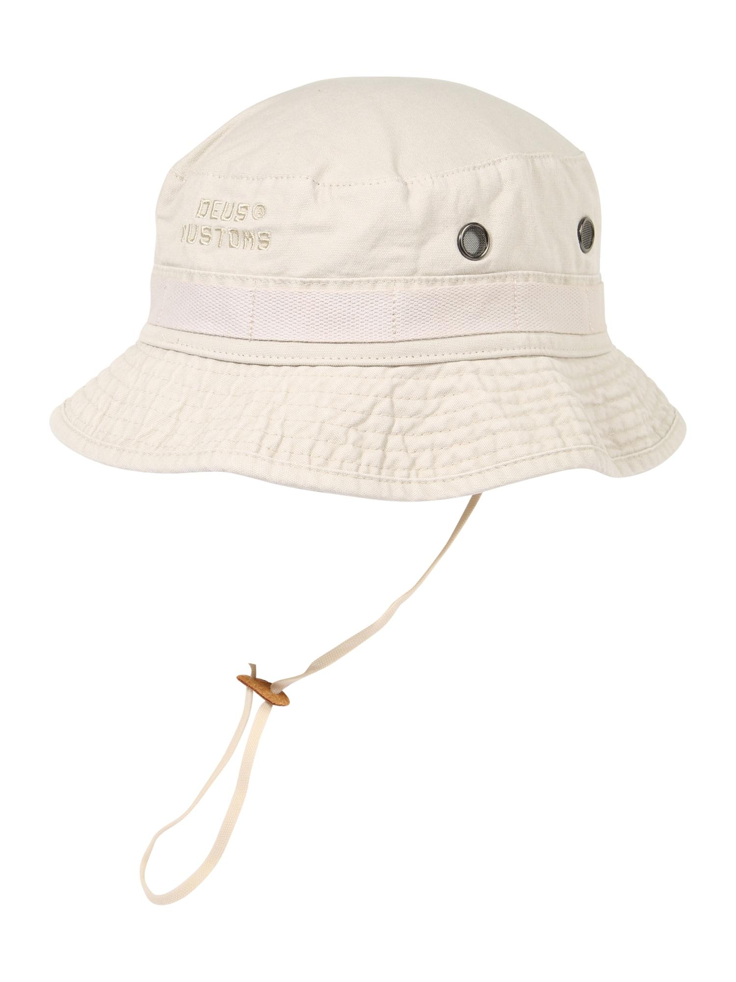 DEUS EX MACHINA Skrybėlaitė 'Fisher Bucket' gelsvai pilka spalva / balta