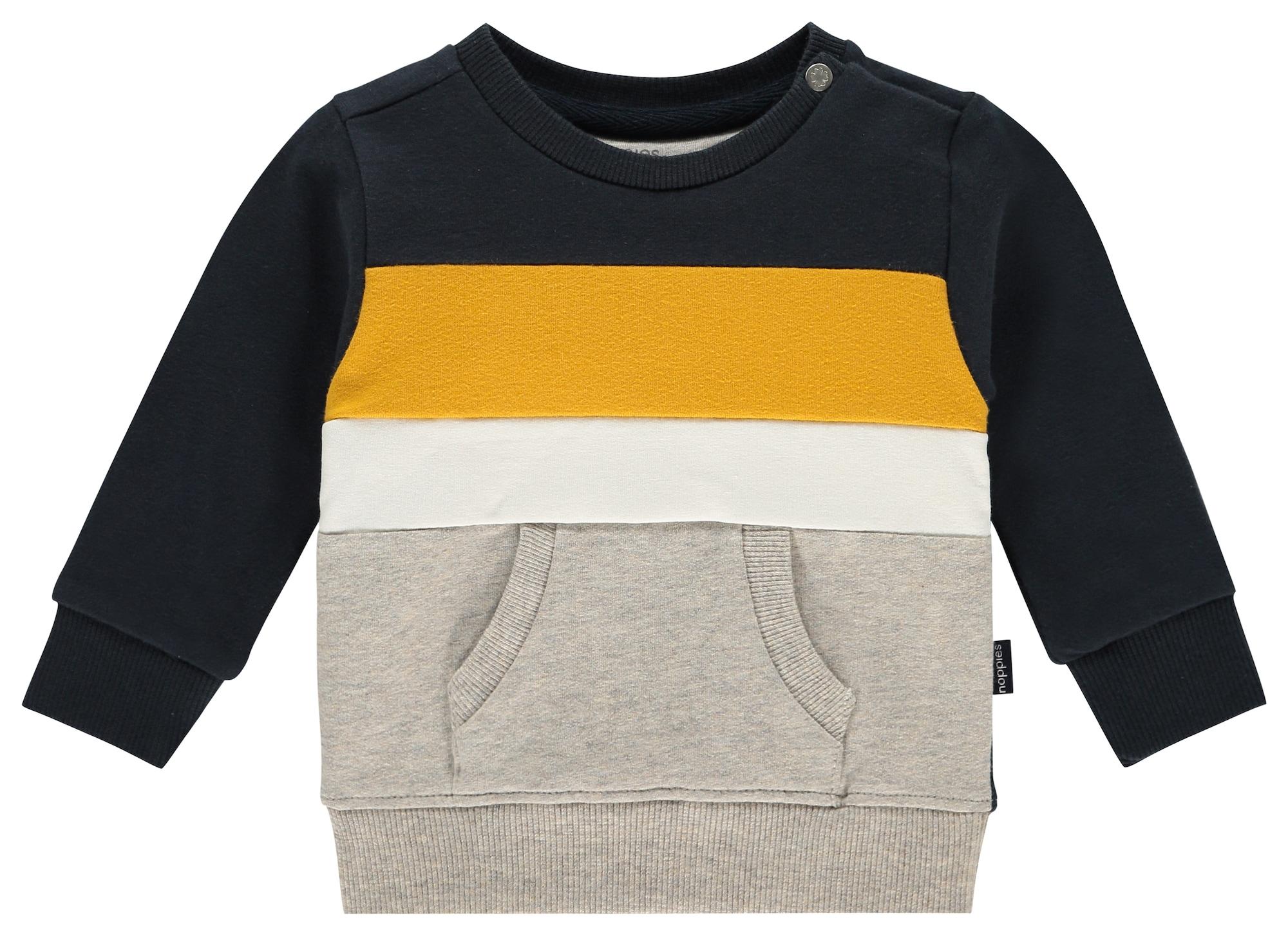 Noppies Tréning póló 'Ashland'  tengerészkék / sárga / szürke