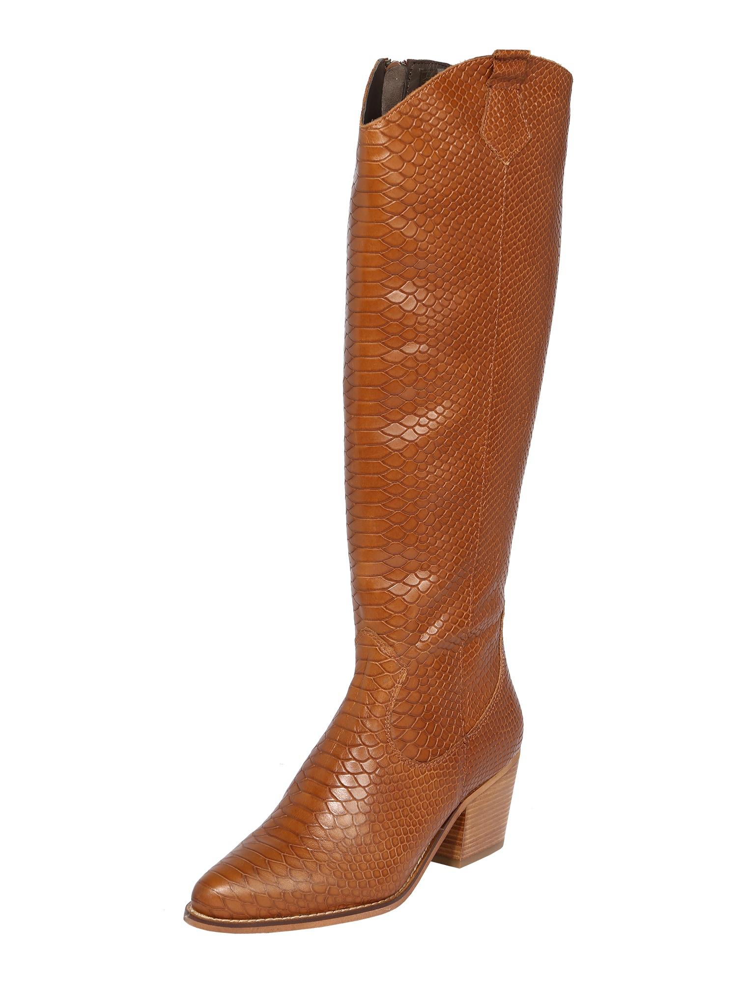 PS Poelman Kaubojiški batai ruda (konjako)
