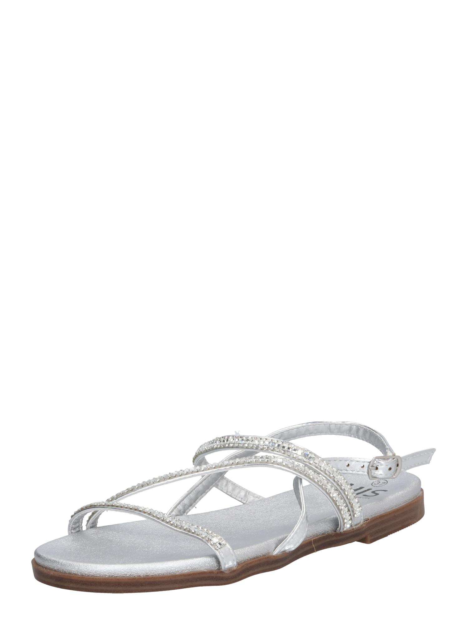 Páskové sandály stříbrná H.I.S
