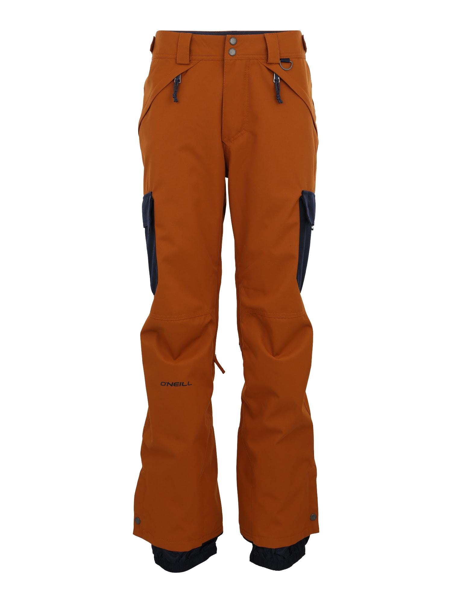 O'NEILL Laisvalaikio kelnės 'Hybrid Friday' tamsiai oranžinė / juoda