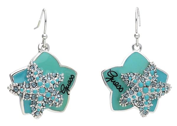 Ohrringe für Frauen - GUESS Ohrhänger 'UBE41202' türkis  - Onlineshop ABOUT YOU