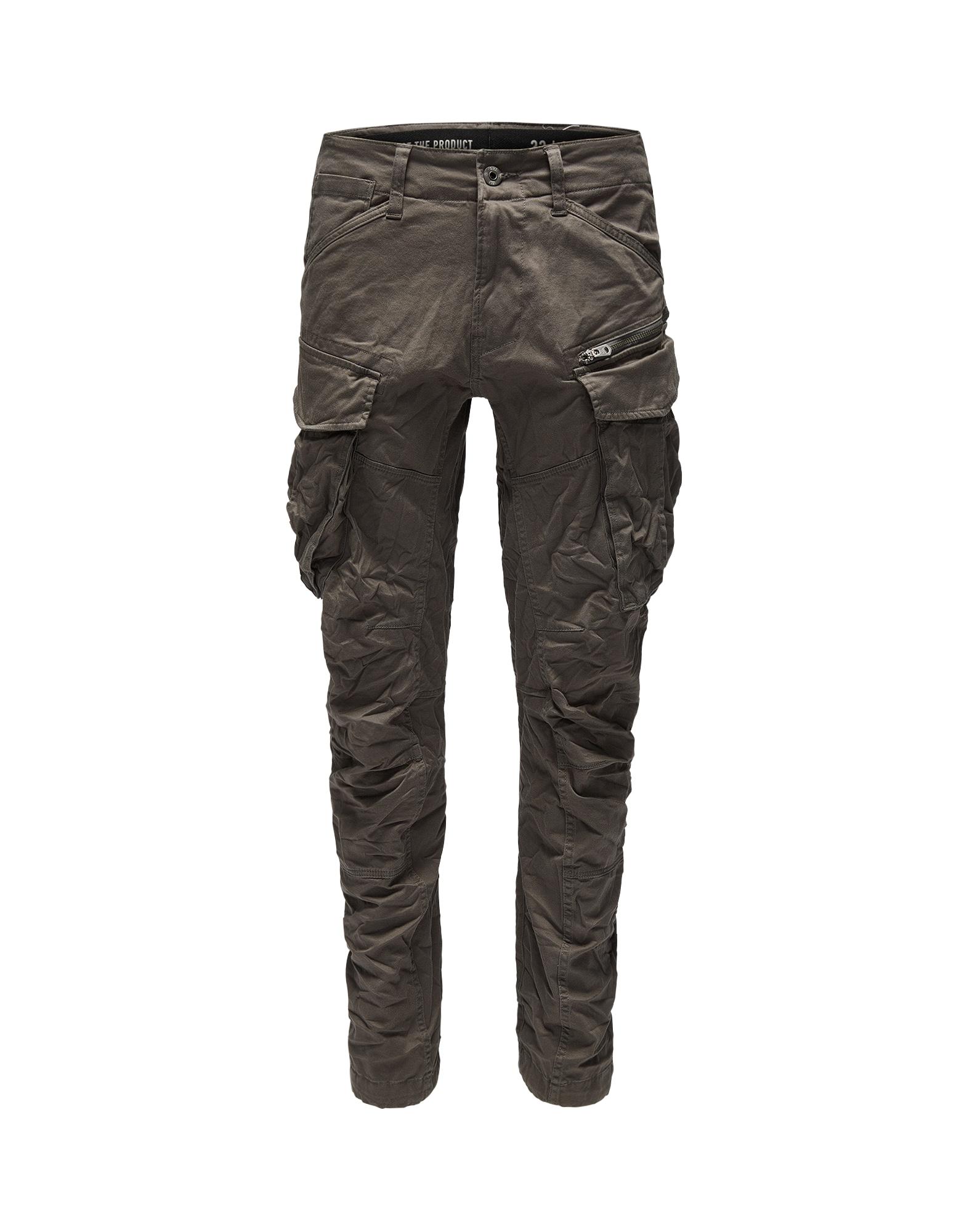 G-Star RAW Laisvo stiliaus kelnės 'Rovic 3D Tapered' rusvai žalia