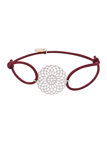 Armbaender für Frauen - Lua Accessories Armband 'Sun' bordeaux silber  - Onlineshop ABOUT YOU