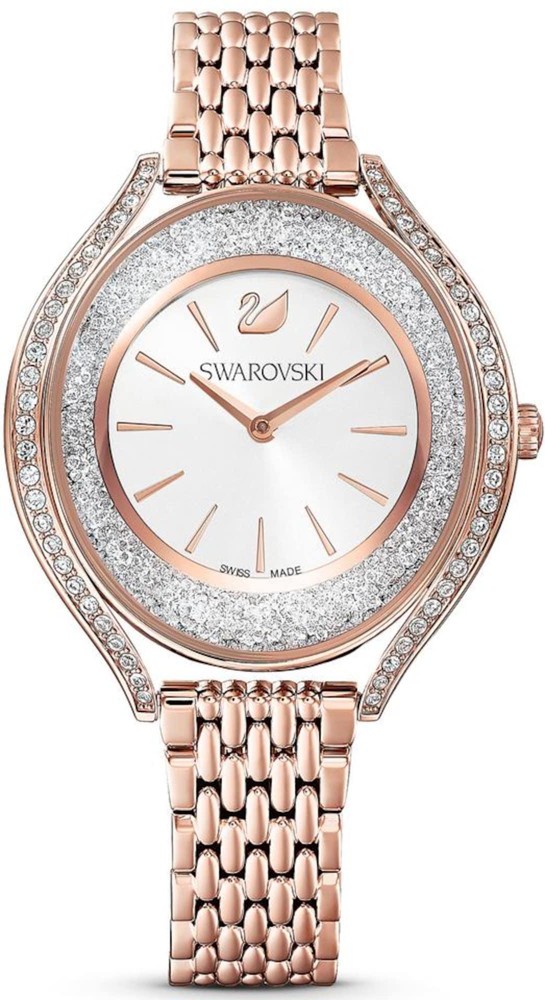 Swarovski Analoginis (įprasto dizaino) laikrodis rožinio aukso spalva