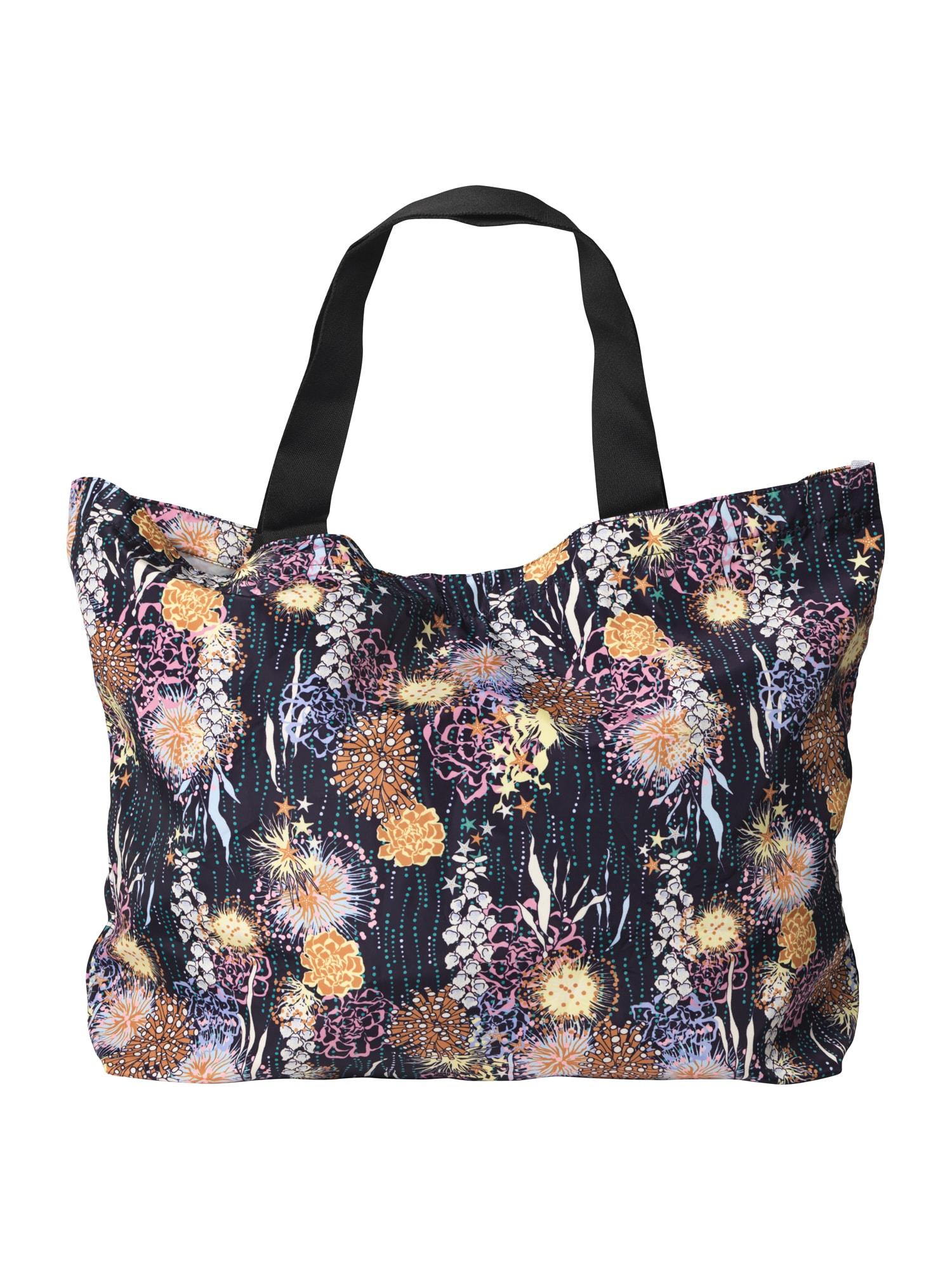 BeckSöndergaard Pirkinių krepšys 'Sealife' juoda / oranžinė / rožių spalva