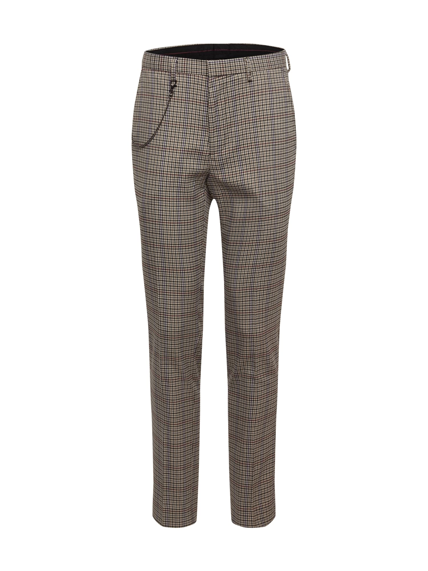 BURTON MENSWEAR LONDON Kelnės 'TP MULTI HOUSE CHECK' pilka