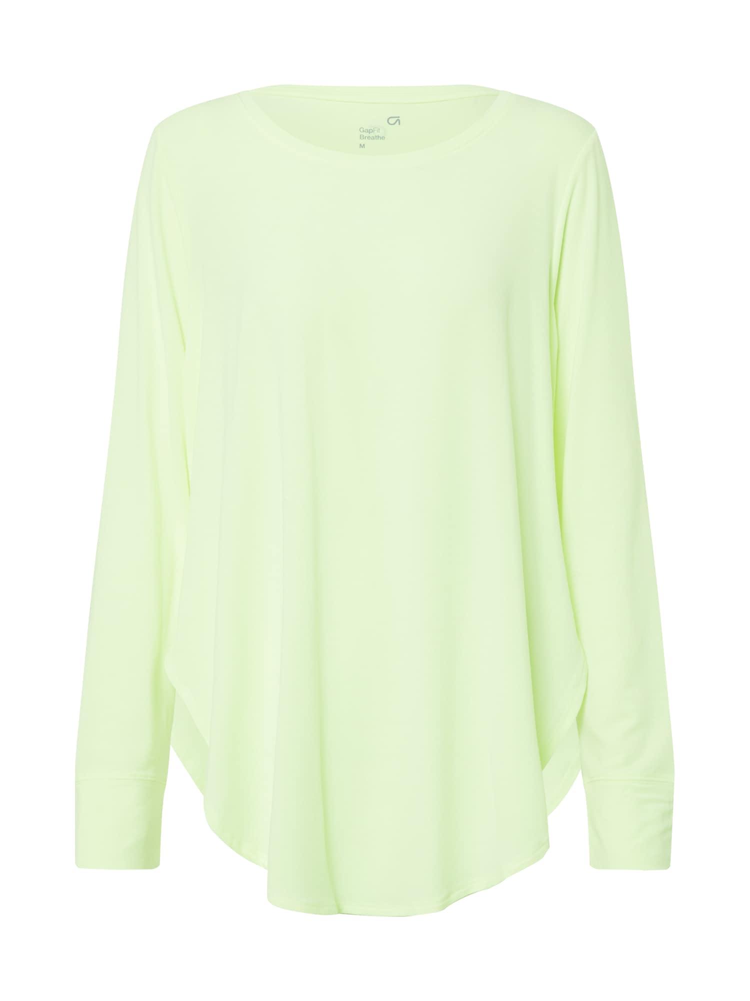 GAP Marškinėliai 'LS BREATHE HI-LOW TUNIC' neoninė žalia