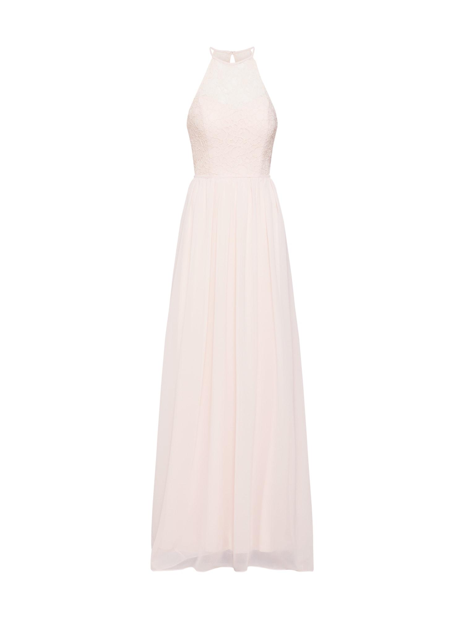 Společenské šaty long dress corded lace & chiffon růžová STAR NIGHT