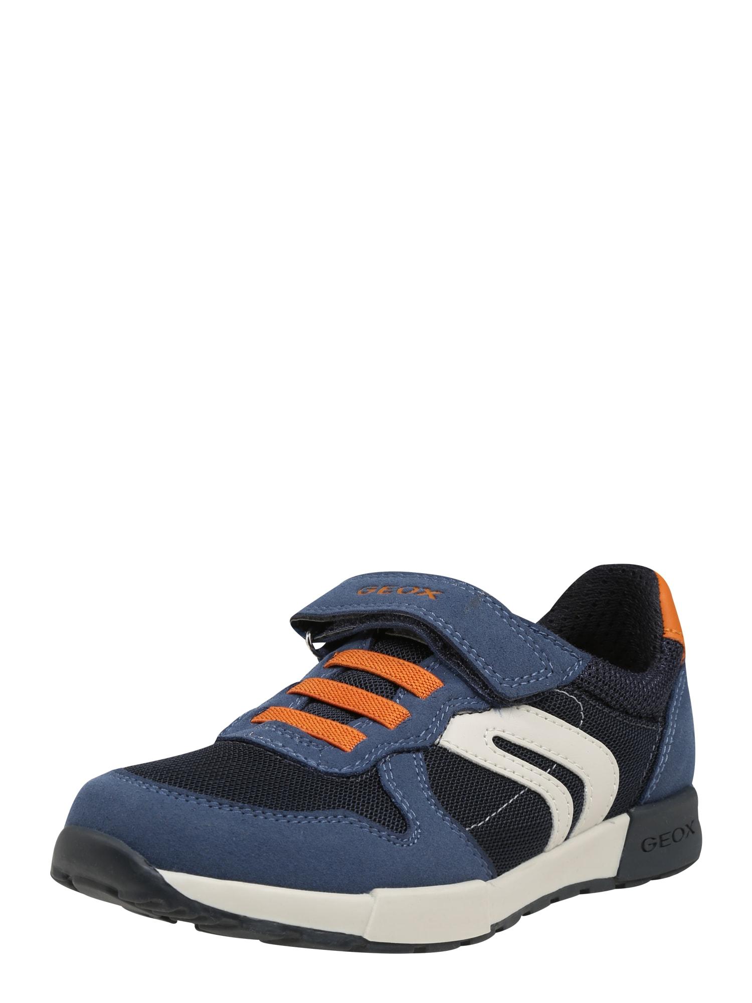 Tenisky Jr Alfier námořnická modř oranžová bílá GEOX
