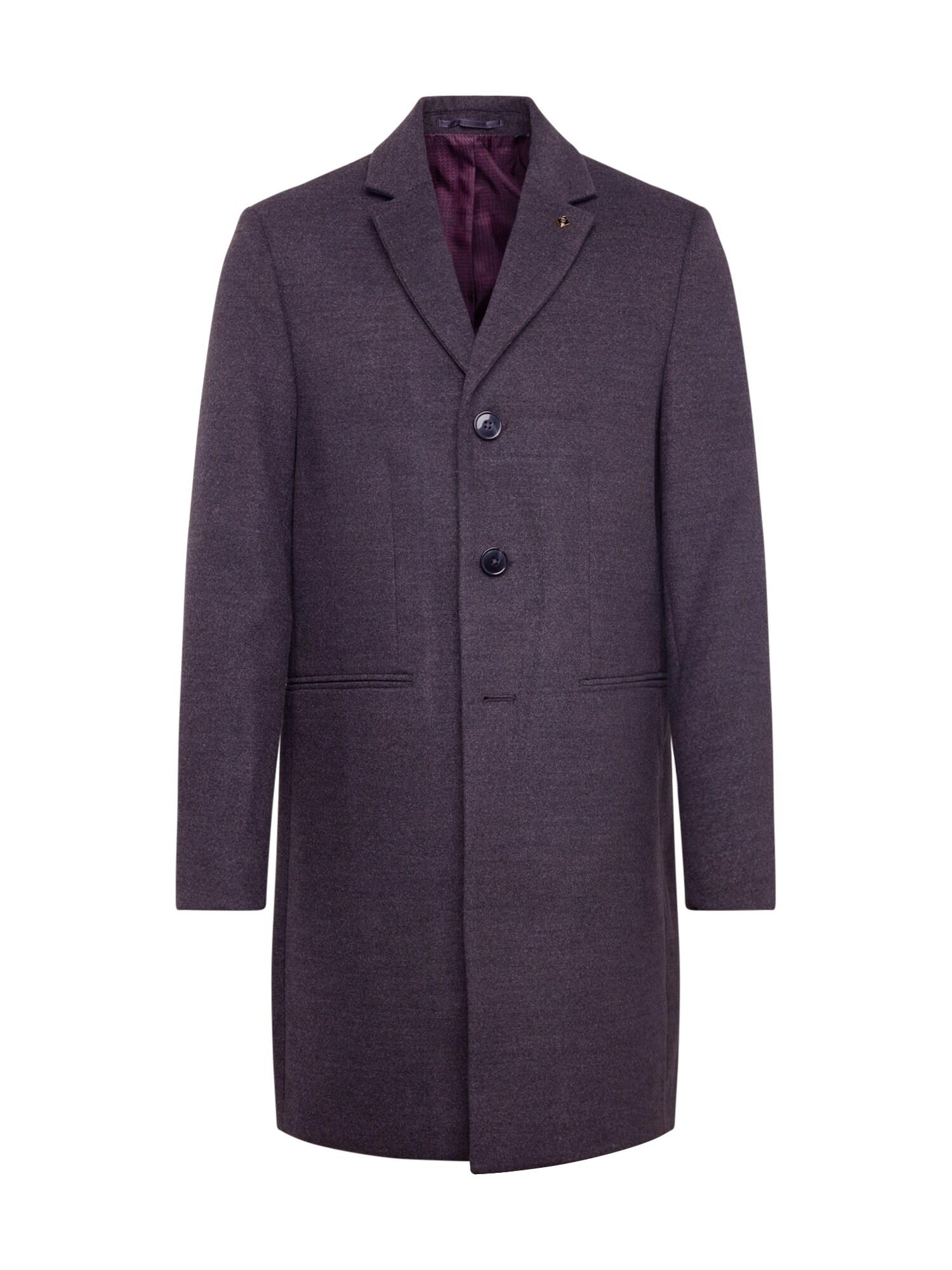 BURTON MENSWEAR LONDON Rudeninis-žieminis paltas 'charcoal faux crombie mid' pilka