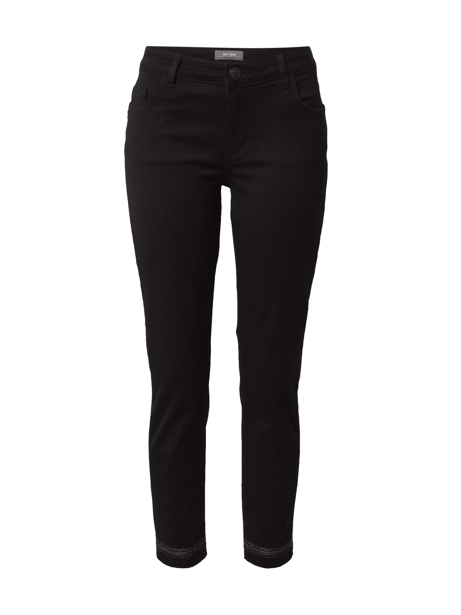MOS MOSH Džinsai juodo džinso spalva