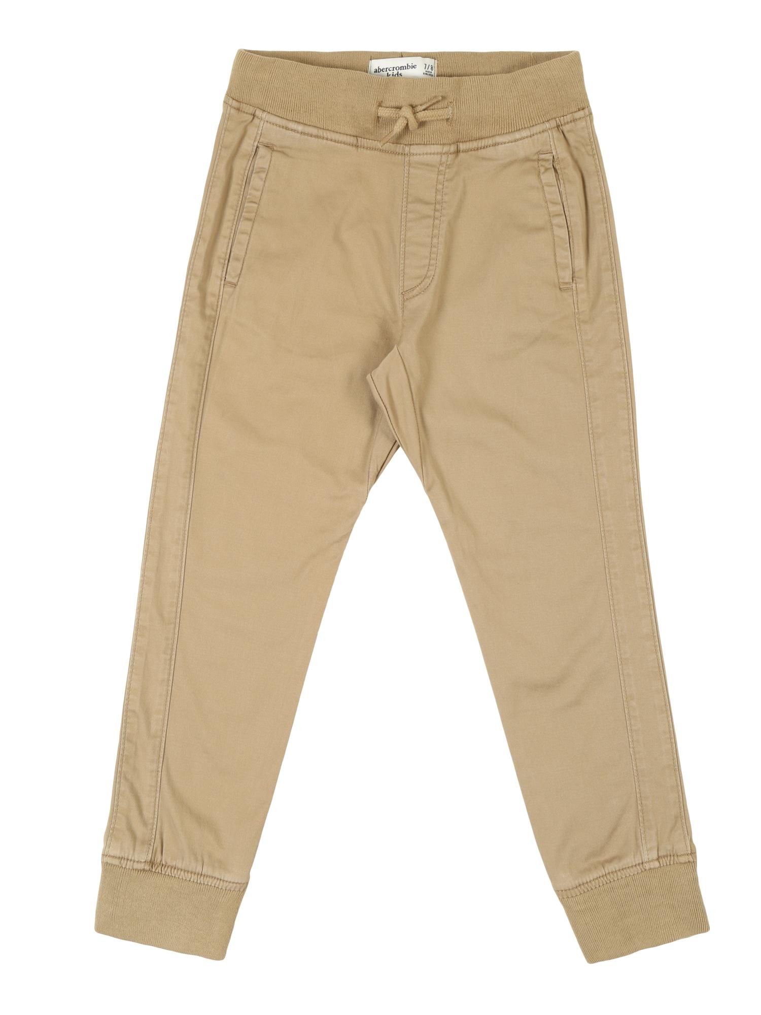 Kalhoty béžová Abercrombie & Fitch