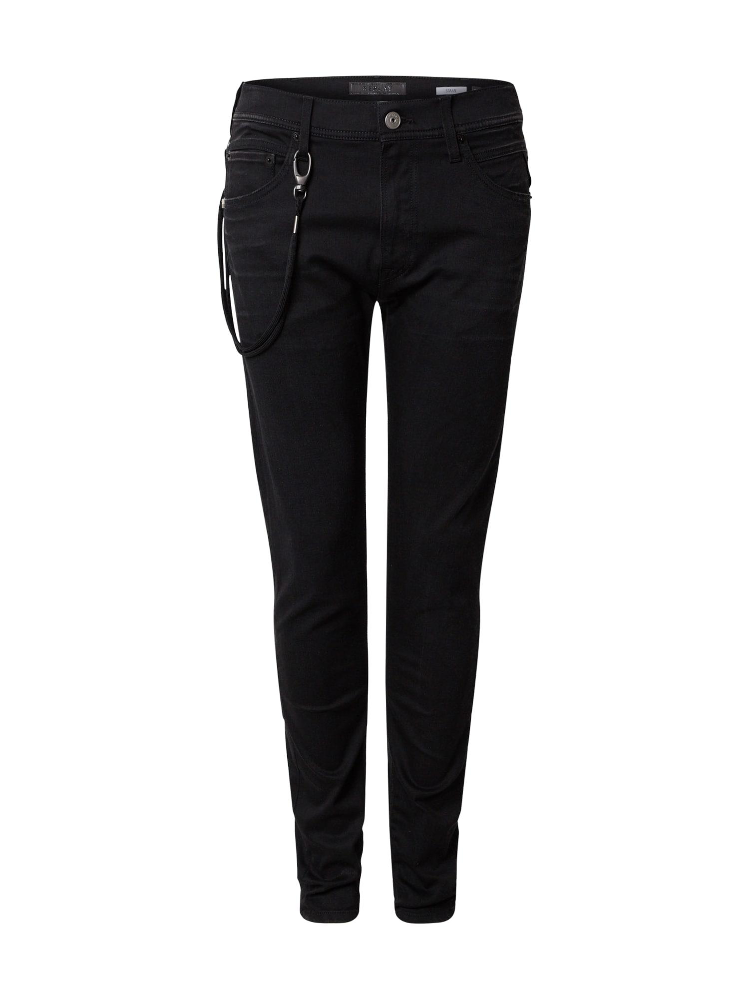 REPLAY Džinsai juodo džinso spalva