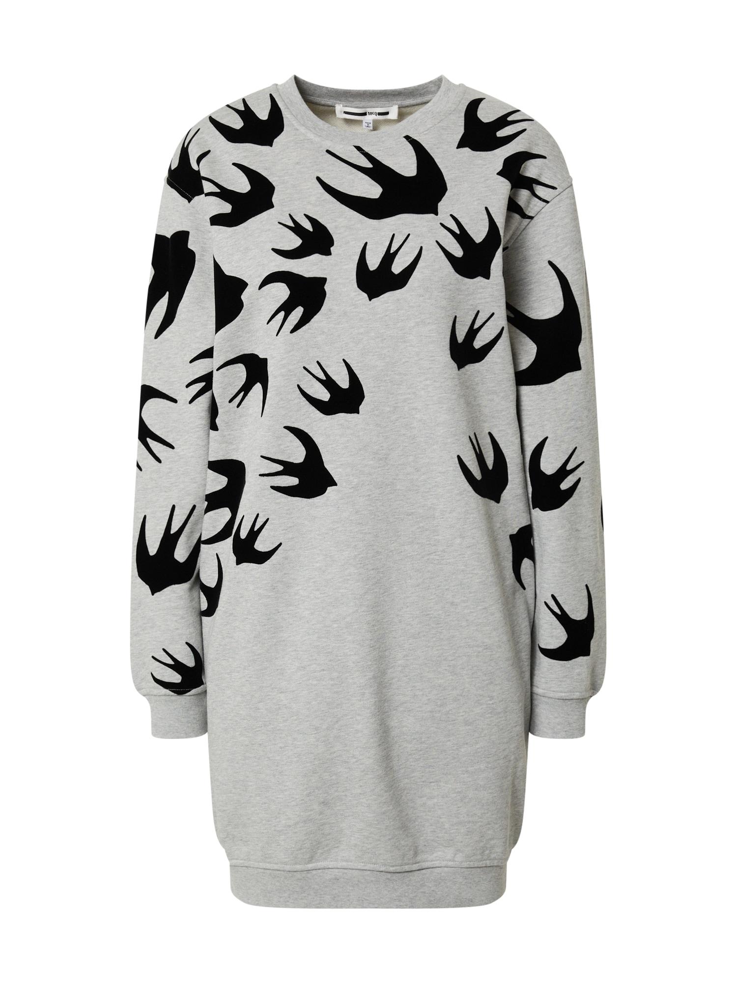 McQ Alexander McQueen Suknelė juoda / pilka