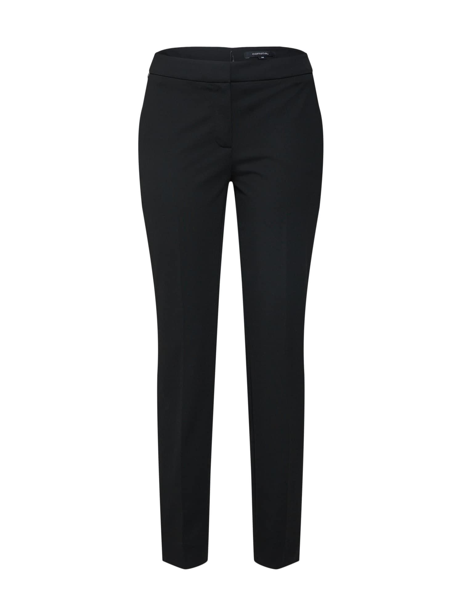 COMMA Kelnės su kantu juoda