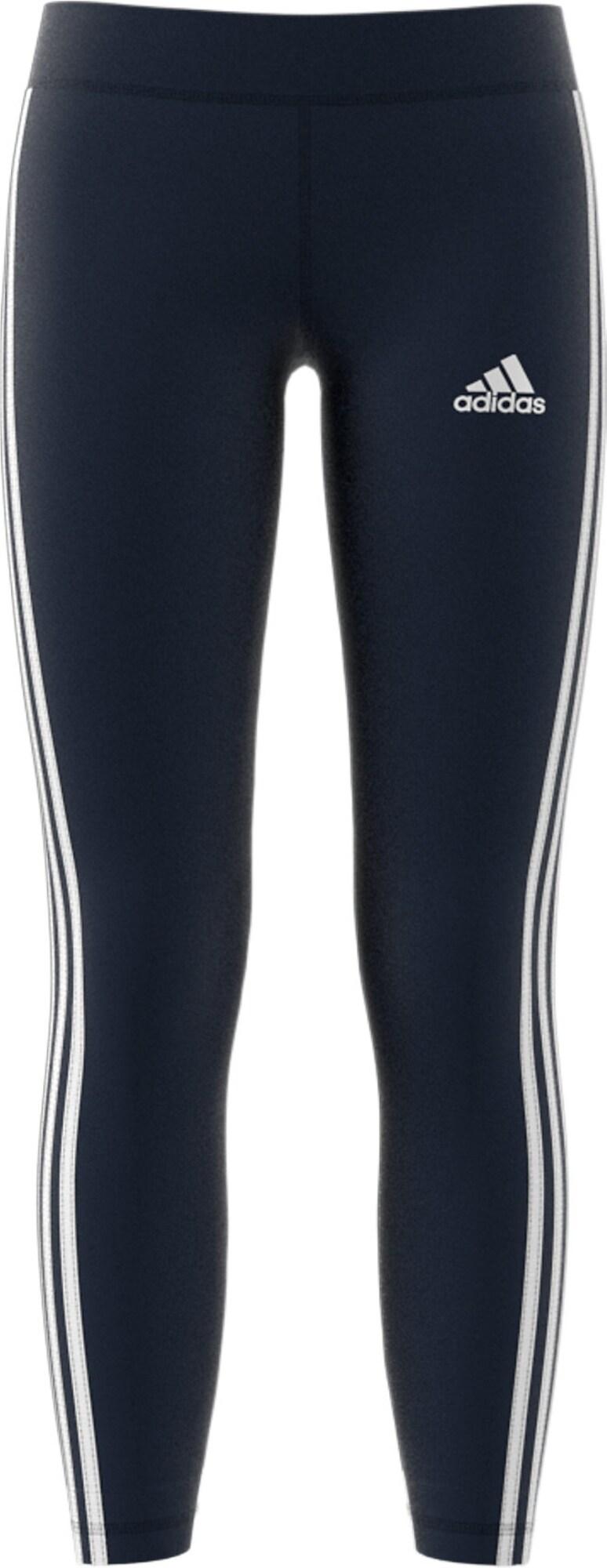ADIDAS PERFORMANCE Sportinės kelnės 'YG TR EQ 3S L T' tamsiai mėlyna / balta