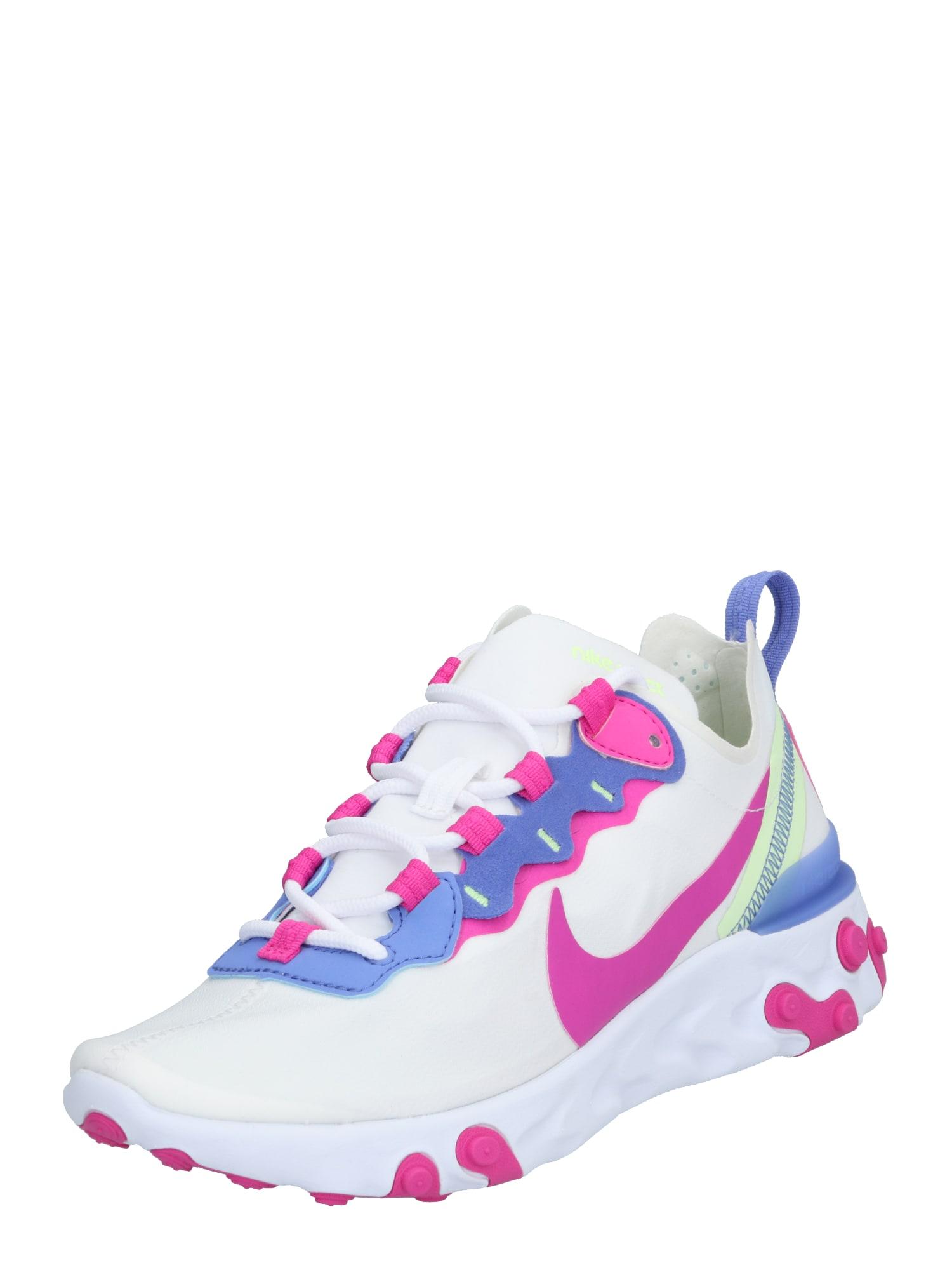 Nike Sportswear Sportbačiai be auliuko 'React Element 55' purpurinė / balta / rožinė