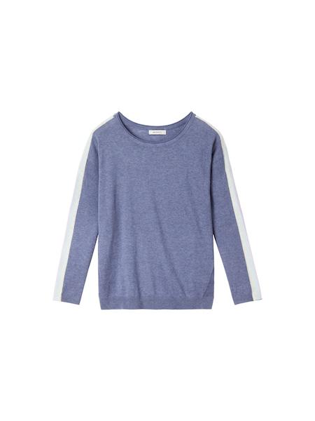 Oberteile für Frauen - Sandwich Pullover violettblau weiß  - Onlineshop ABOUT YOU