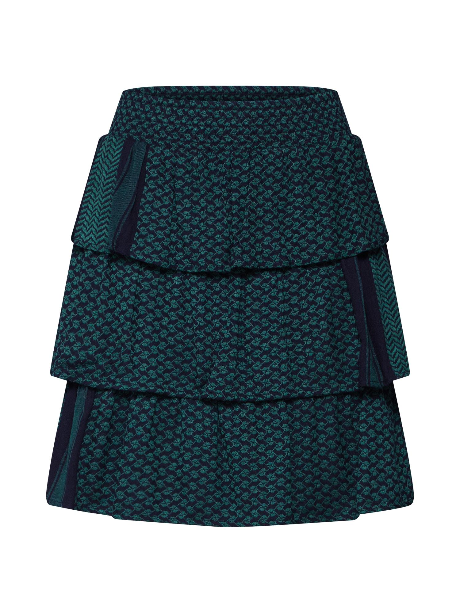 Cecilie Copenhagen Sijonas 'Becky Skirt' mėlyna / žalia