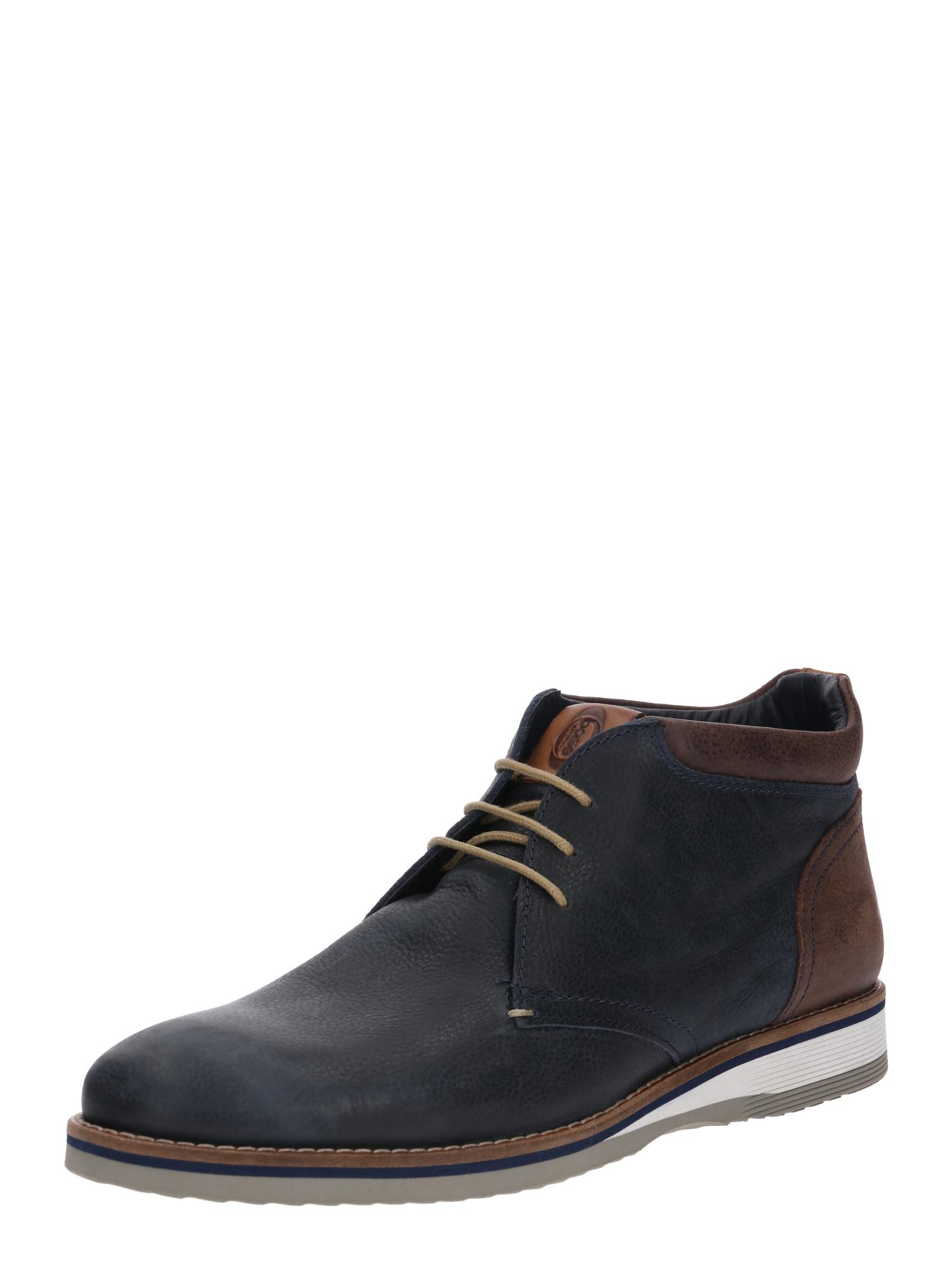 Sportovní šněrovací boty TAYLOR námořnická modř hnědá Base London