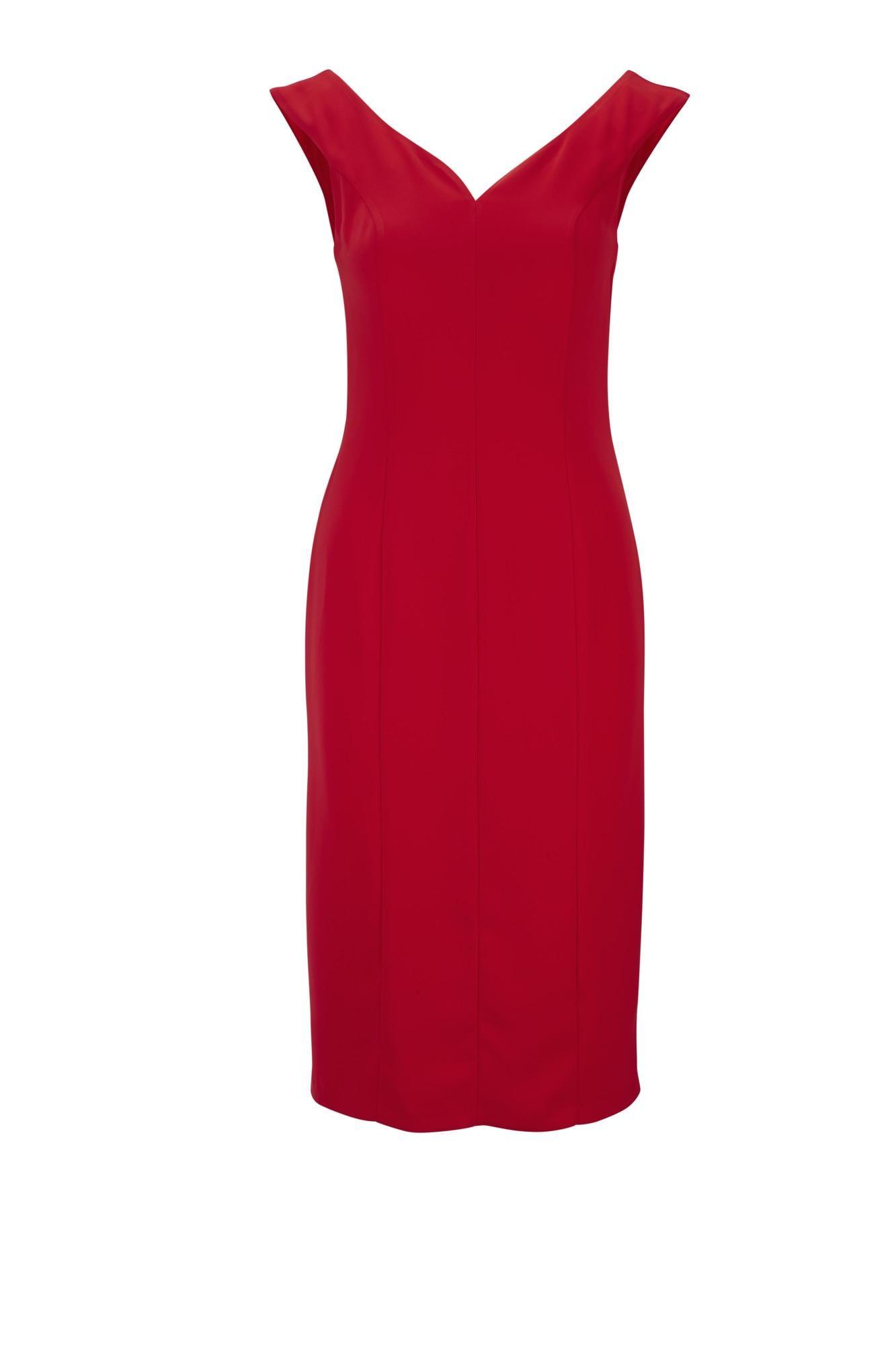 heine Puzdrové šaty  červené