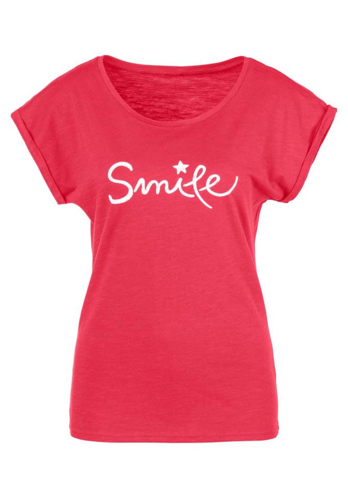 BEACH TIME Marškinėliai lašišų spalva / raudona / balta