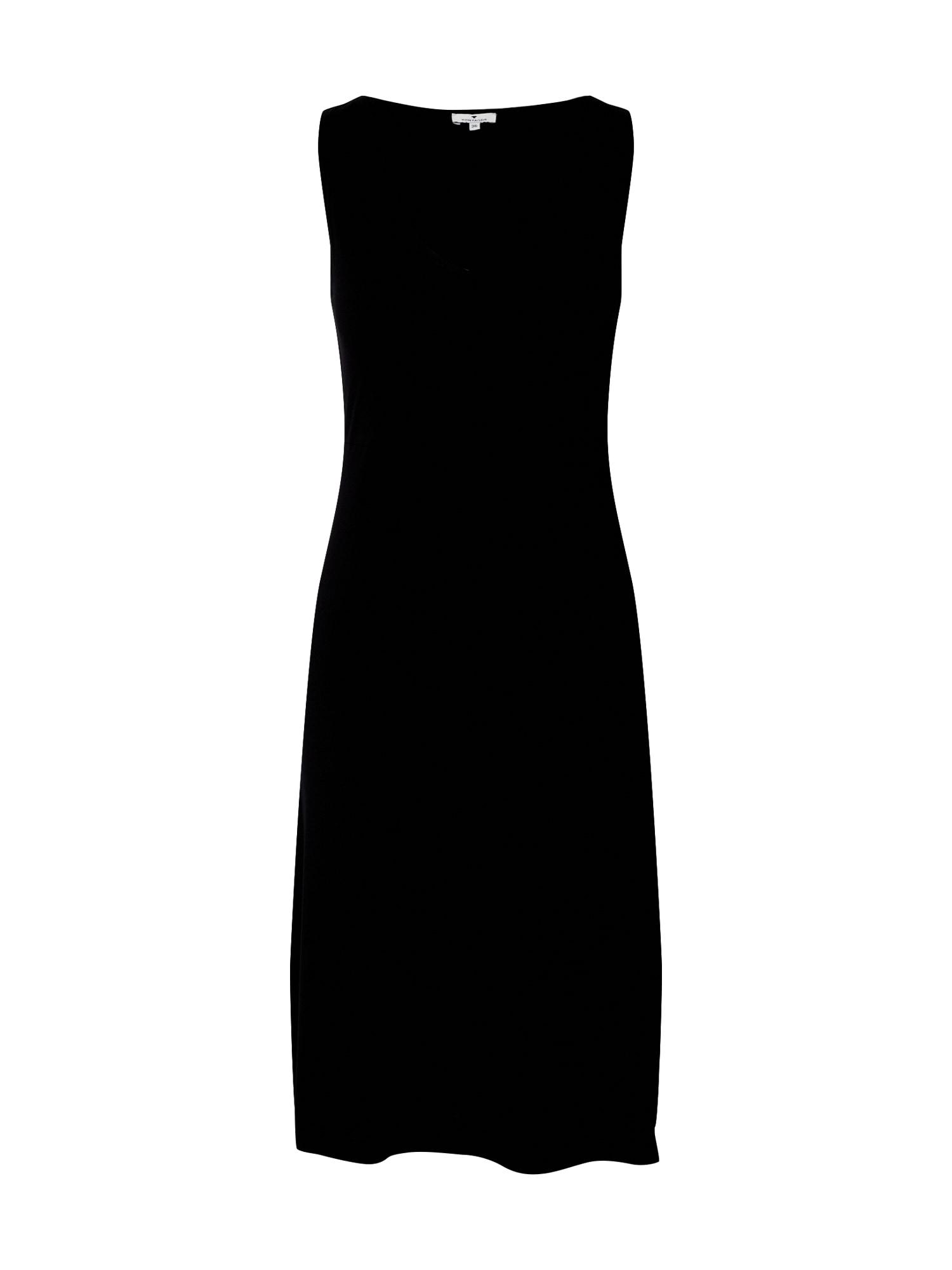 TOM TAILOR Šaty  černá