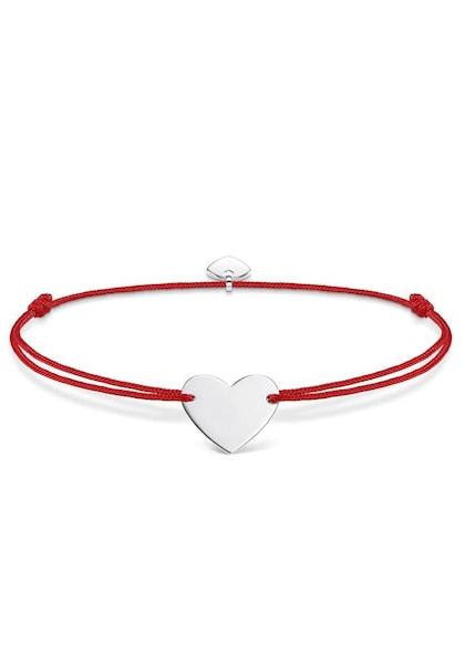 Armbaender für Frauen - Thomas Sabo Armband 'Herz' rot silber  - Onlineshop ABOUT YOU