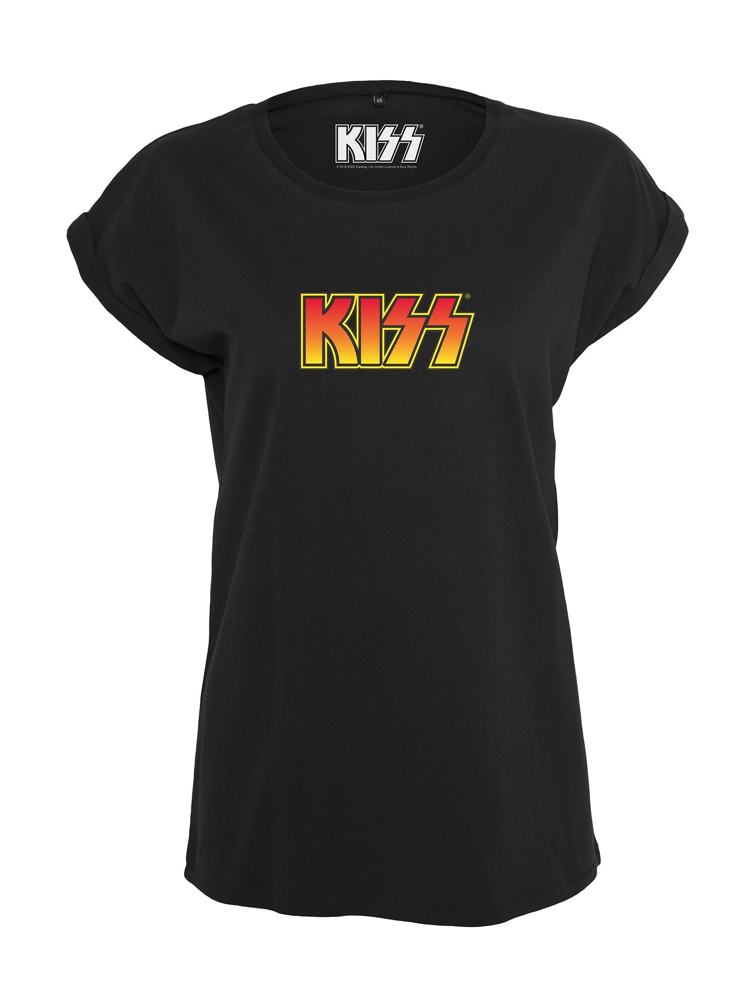 Tričko Kiss žlutá červená černá Merchcode