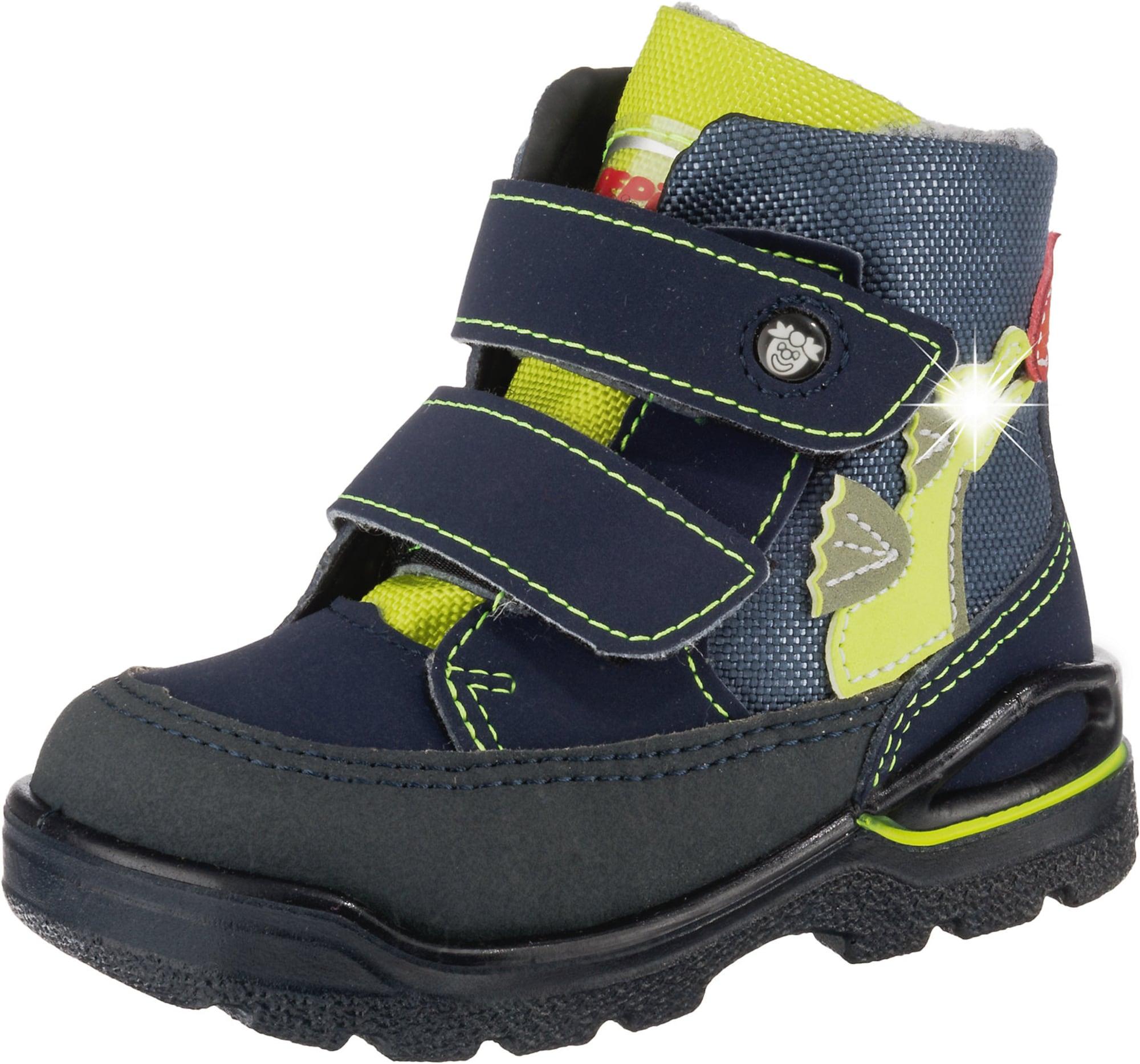 Pepino Sniego batai mėlyna / neoninė geltona