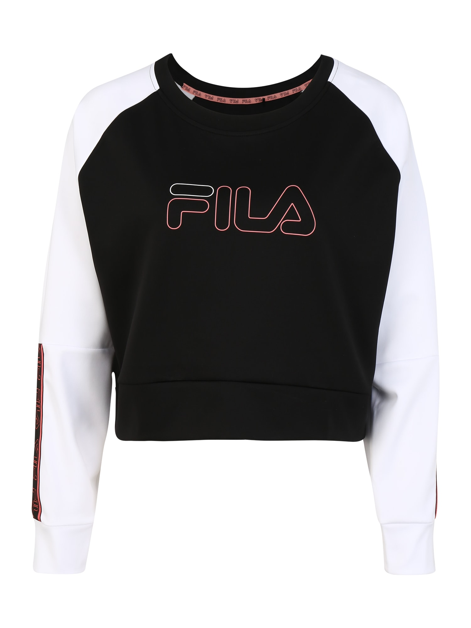 FILA Sportinio tipo megztinis 'AHUVA' balta / juoda