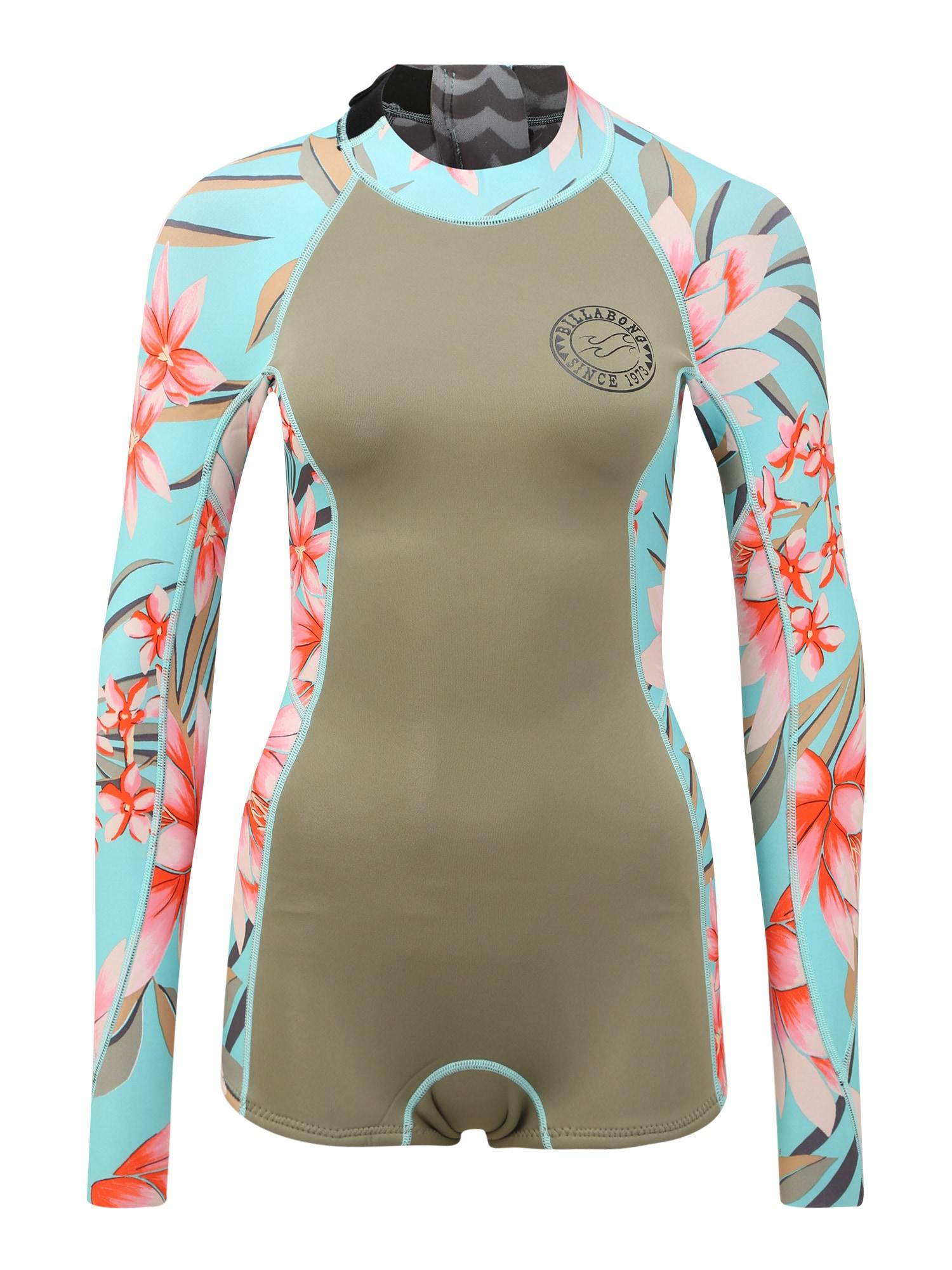 BILLABONG Nardymo kostiumas 'spring fever' rožių spalva / rusvai žalia / šviesiai mėlyna