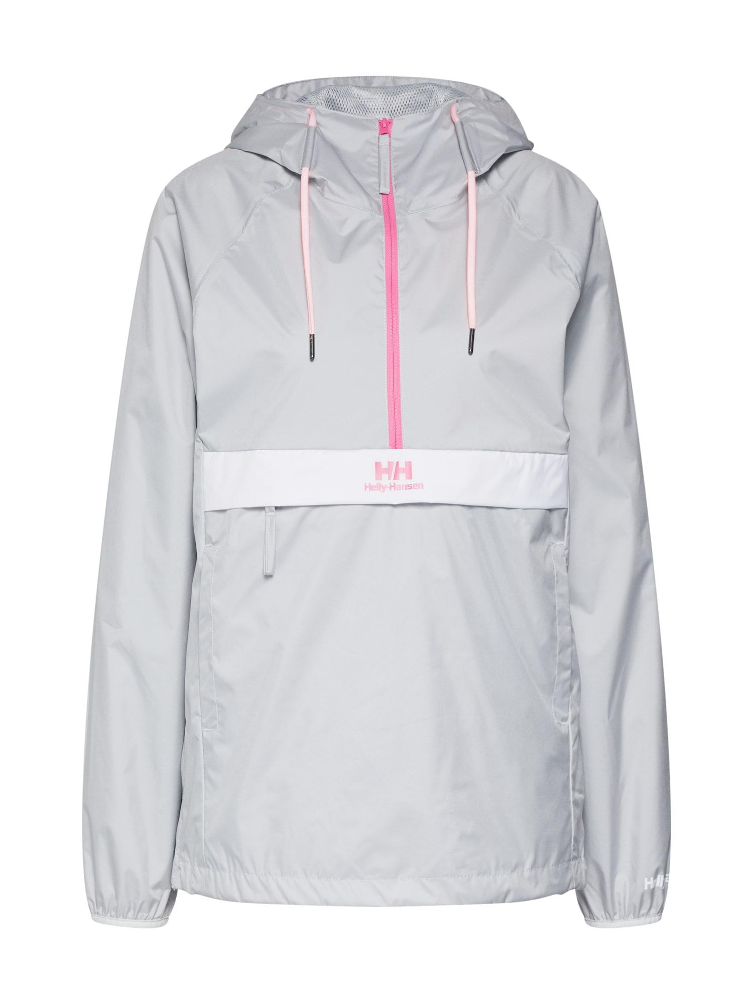 Přechodná bunda URBAN šedá pink bílá HELLY HANSEN