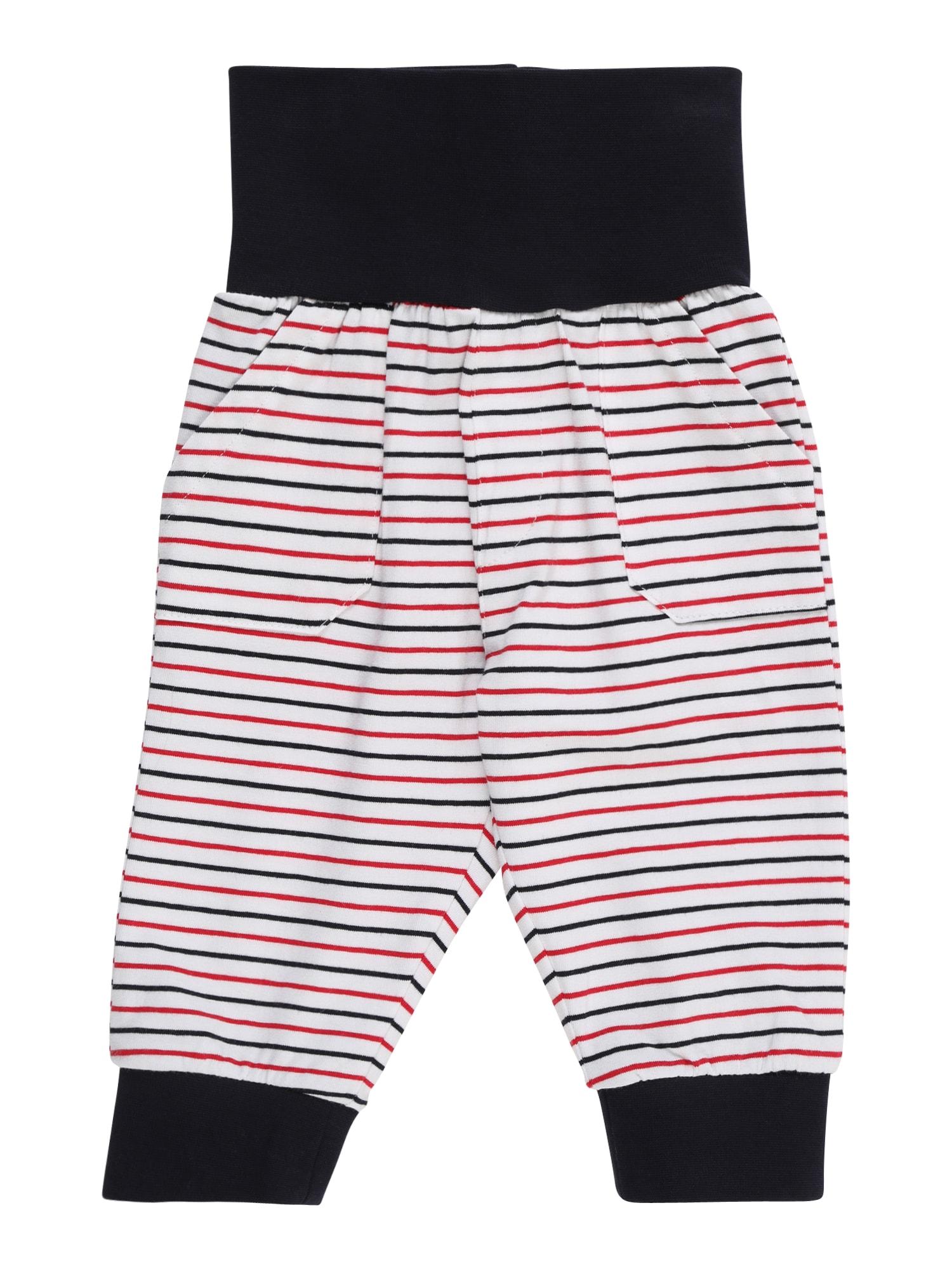 Kalhoty modrá červená bílá Steiff Collection