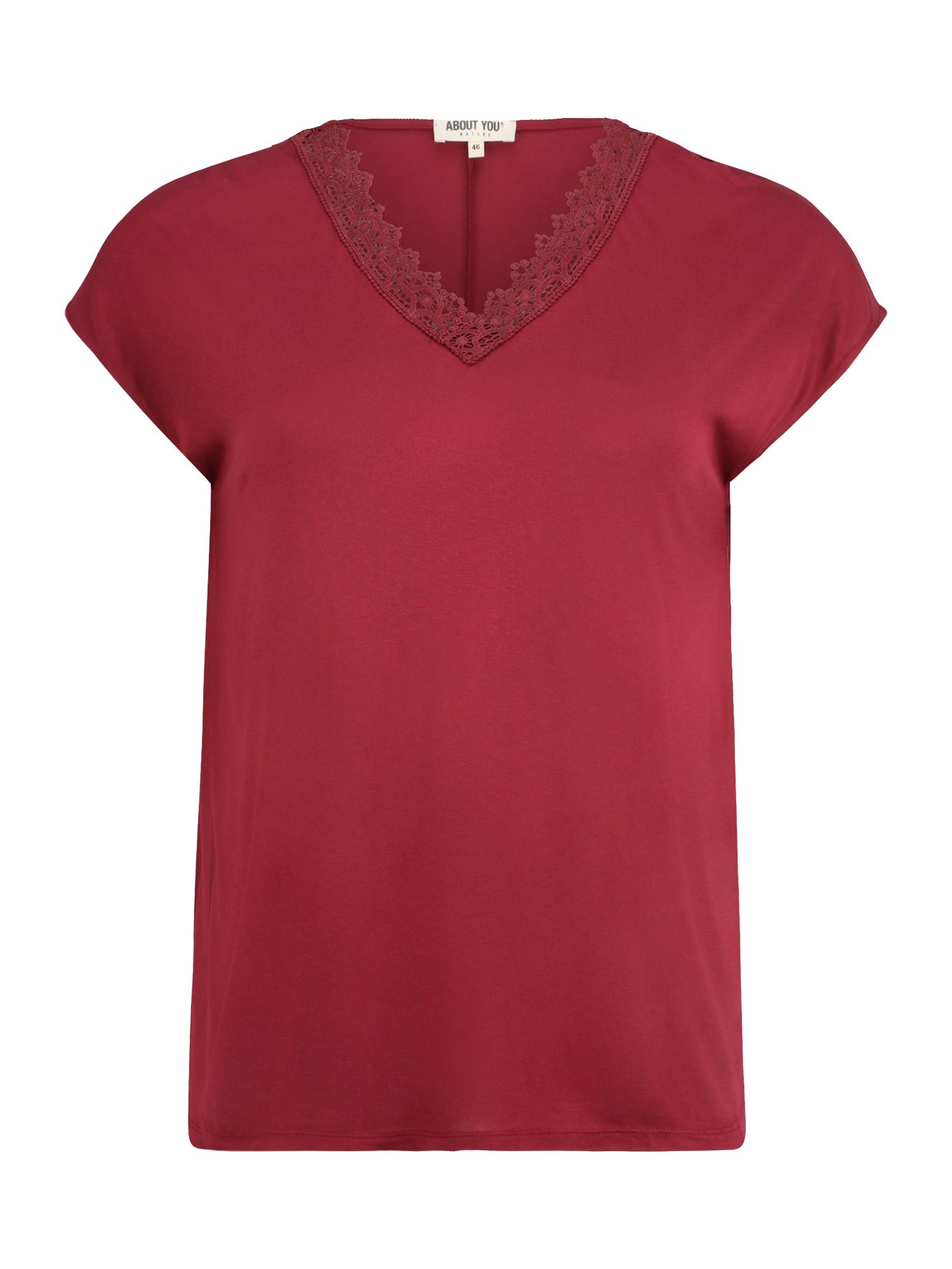 ABOUT YOU Curvy Marškinėliai 'Kate' raudona