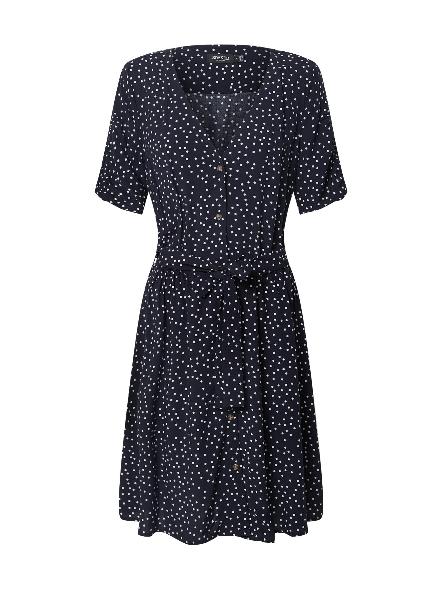 SOAKED IN LUXURY Vasarinė suknelė 'SLArjana' balta / nakties mėlyna