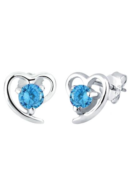 Ohrringe für Frauen - ELLI Ohrringe 'Herz' himmelblau silber  - Onlineshop ABOUT YOU