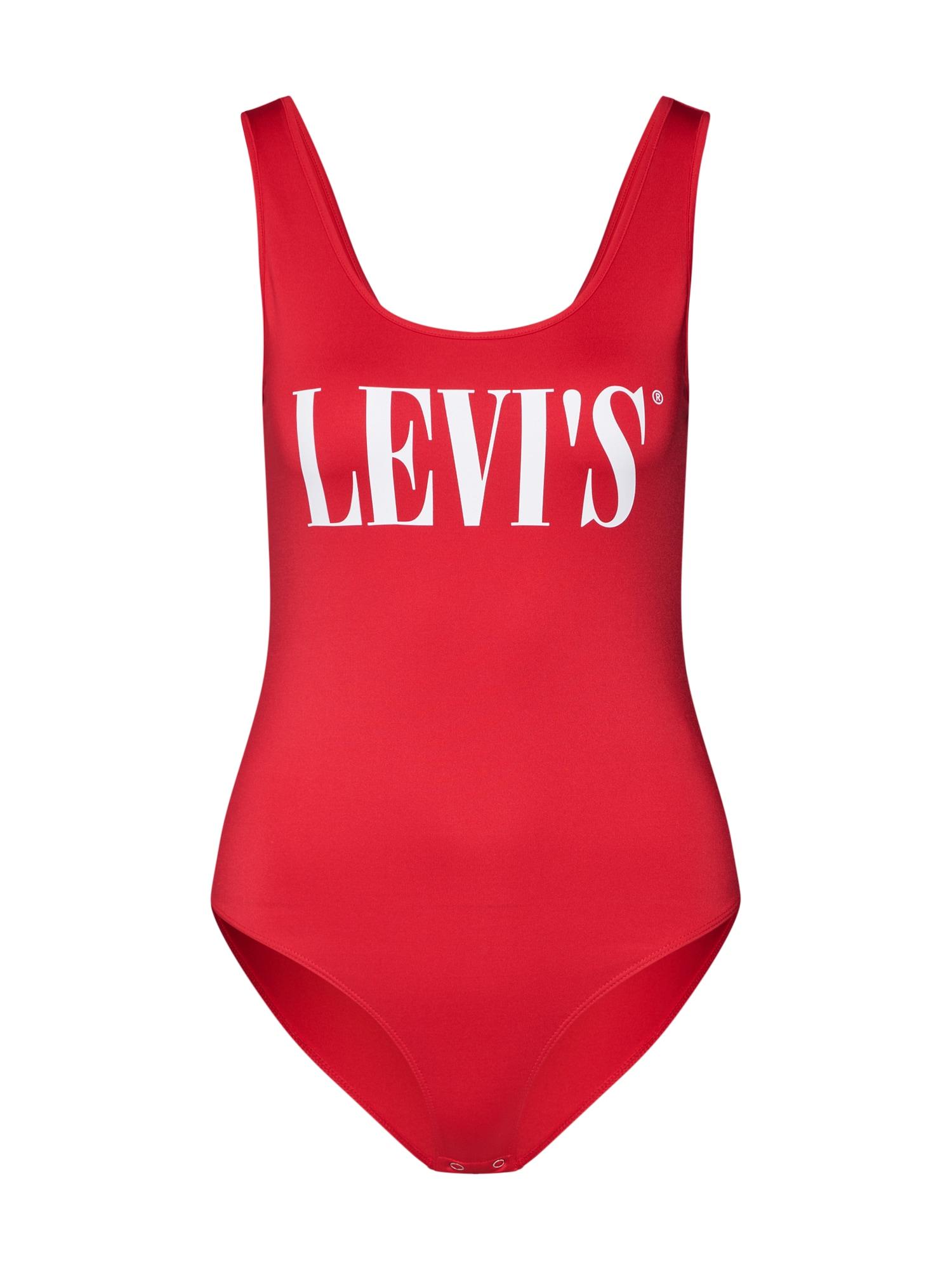 LEVI'S Marškinėliai-glaustinukė raudona / balta