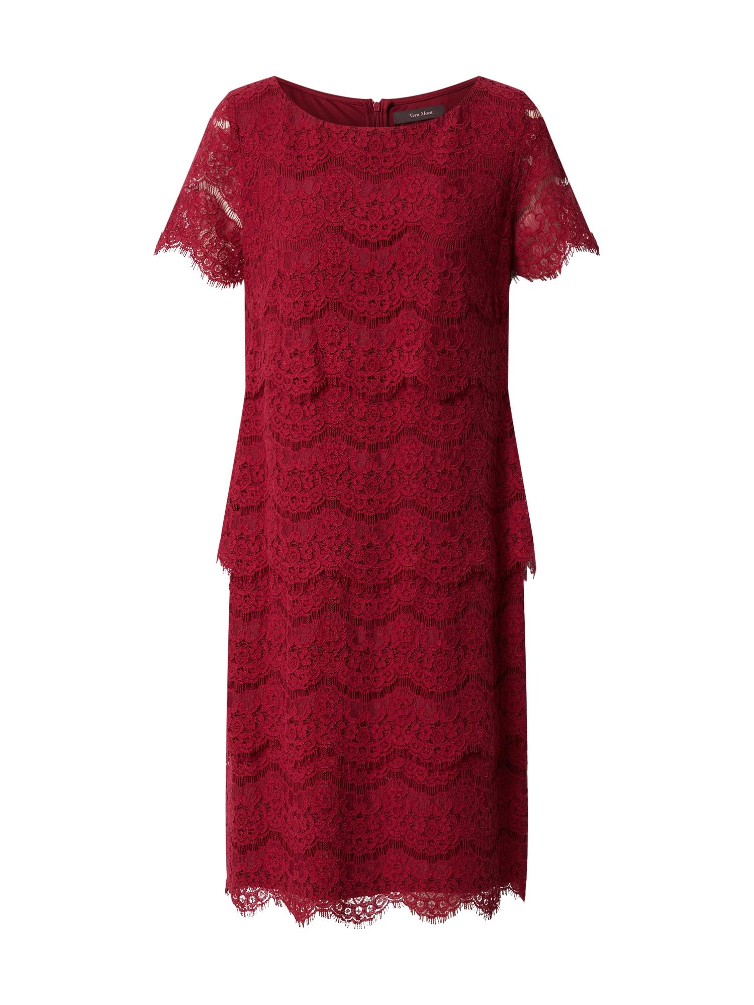 Vera Mont Kokteilinė suknelė rubinų raudona