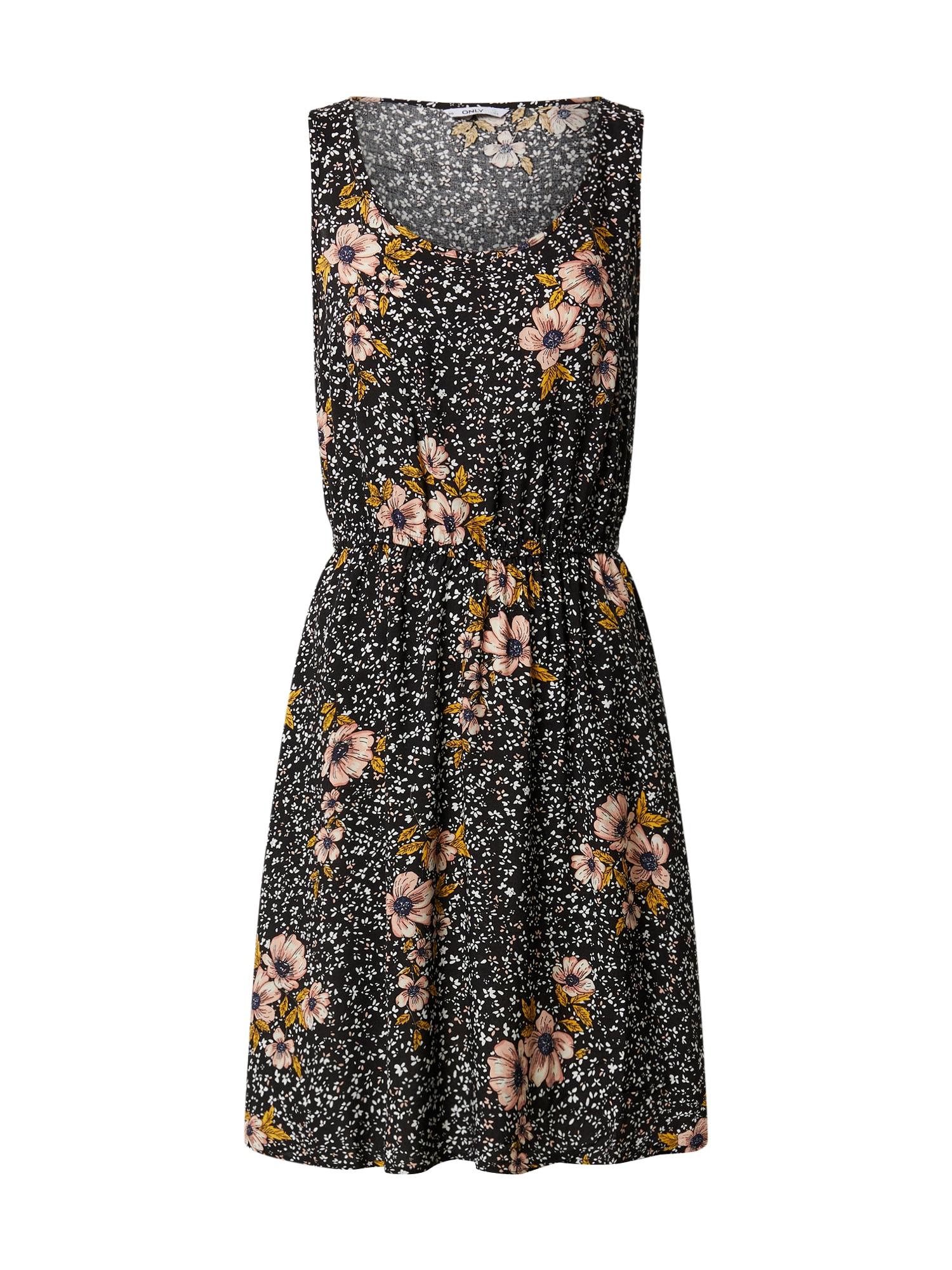 ONLY Letné šaty 'NOVA LIFE SARA 10'  čierna / zmiešané farby