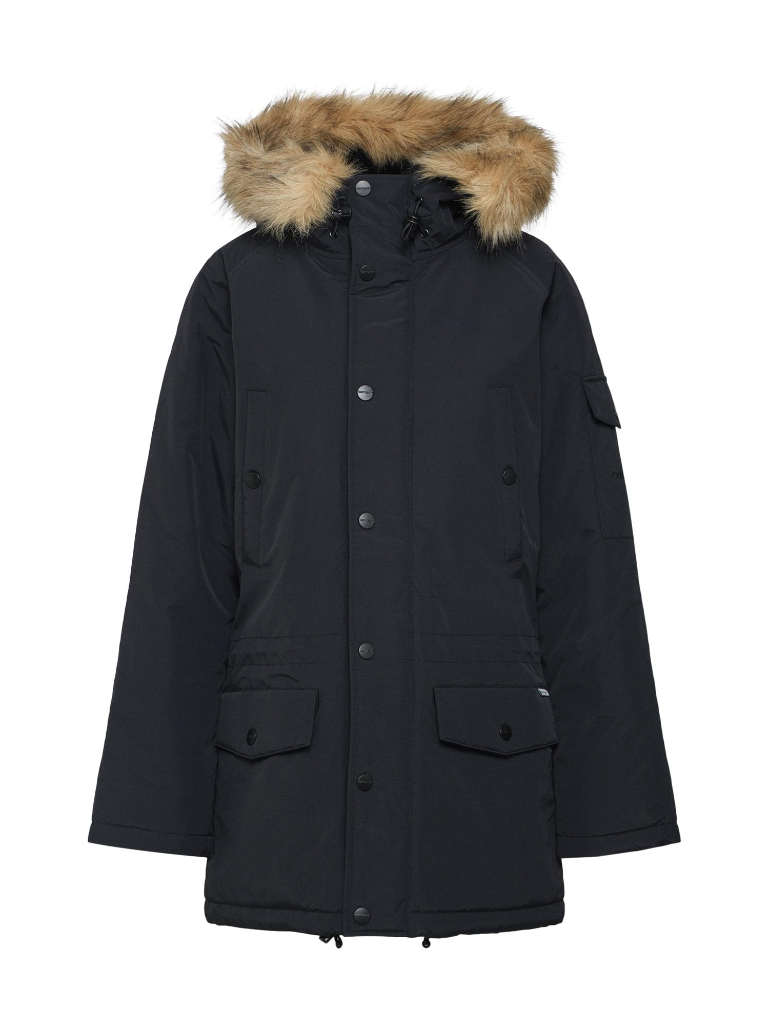 Carhartt WIP Ilga žieminė striukė 'Anchorage' juoda