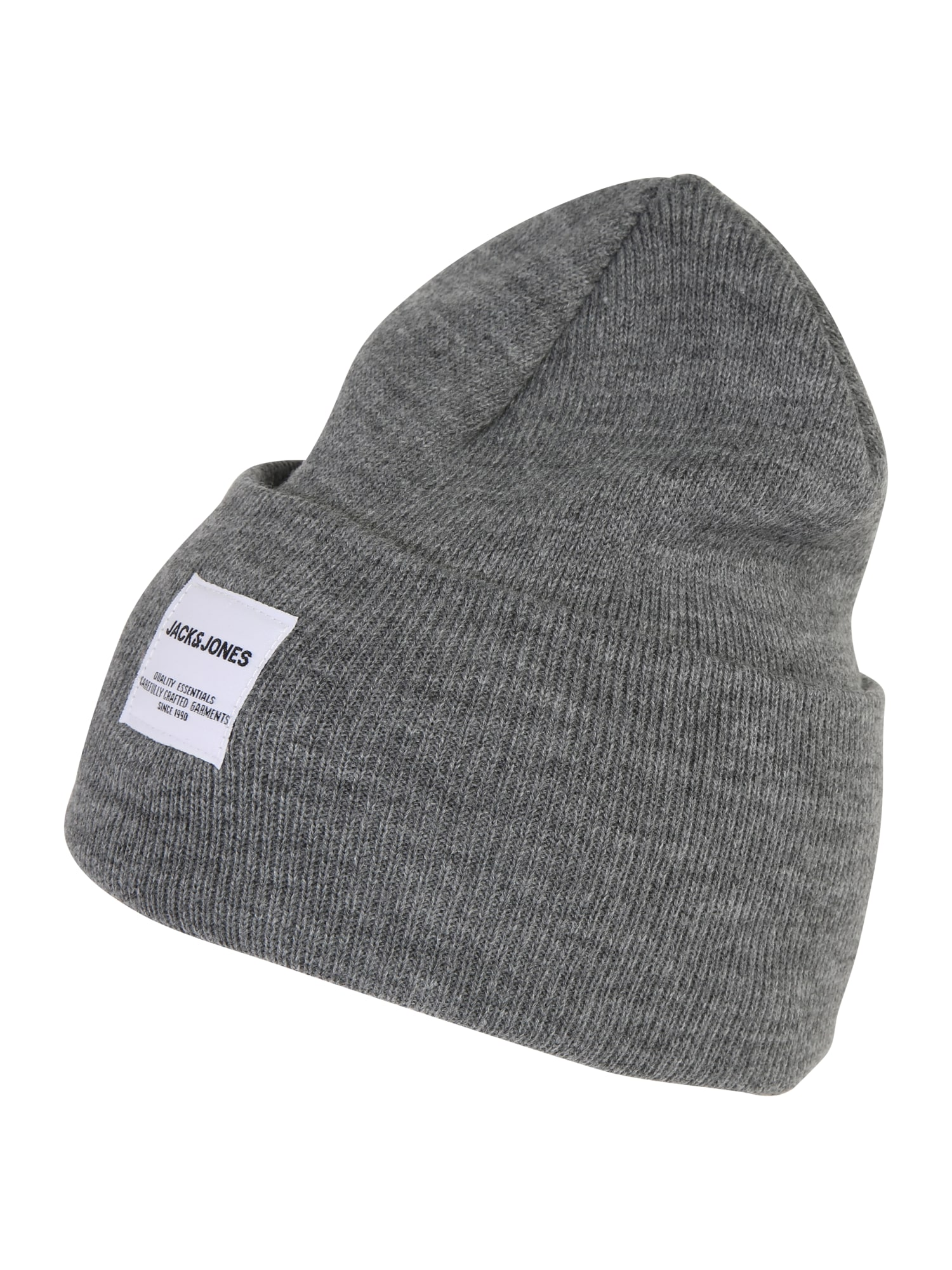 JACK & JONES Megzta kepurė 'LONG KNIT BEANIE' pilka
