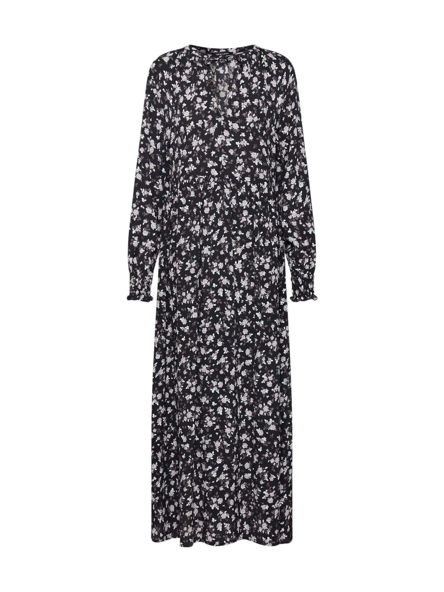 NEW LOOK Šaty 'GYPSY SMOCK'  sivá / čierna / staroružová