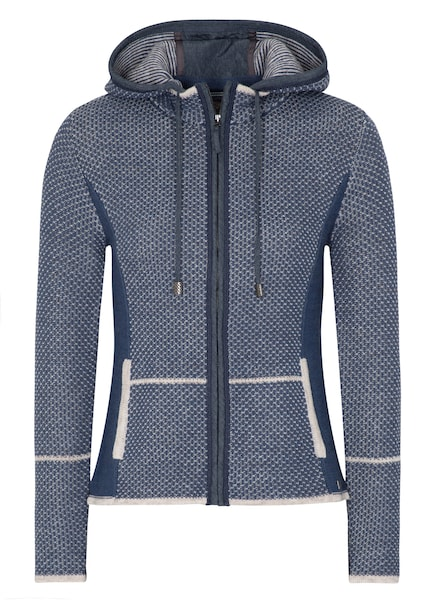 Jacken - Strickjacke 'Kulmbach' › SPIETH WENSKY › blue denim weiß  - Onlineshop ABOUT YOU