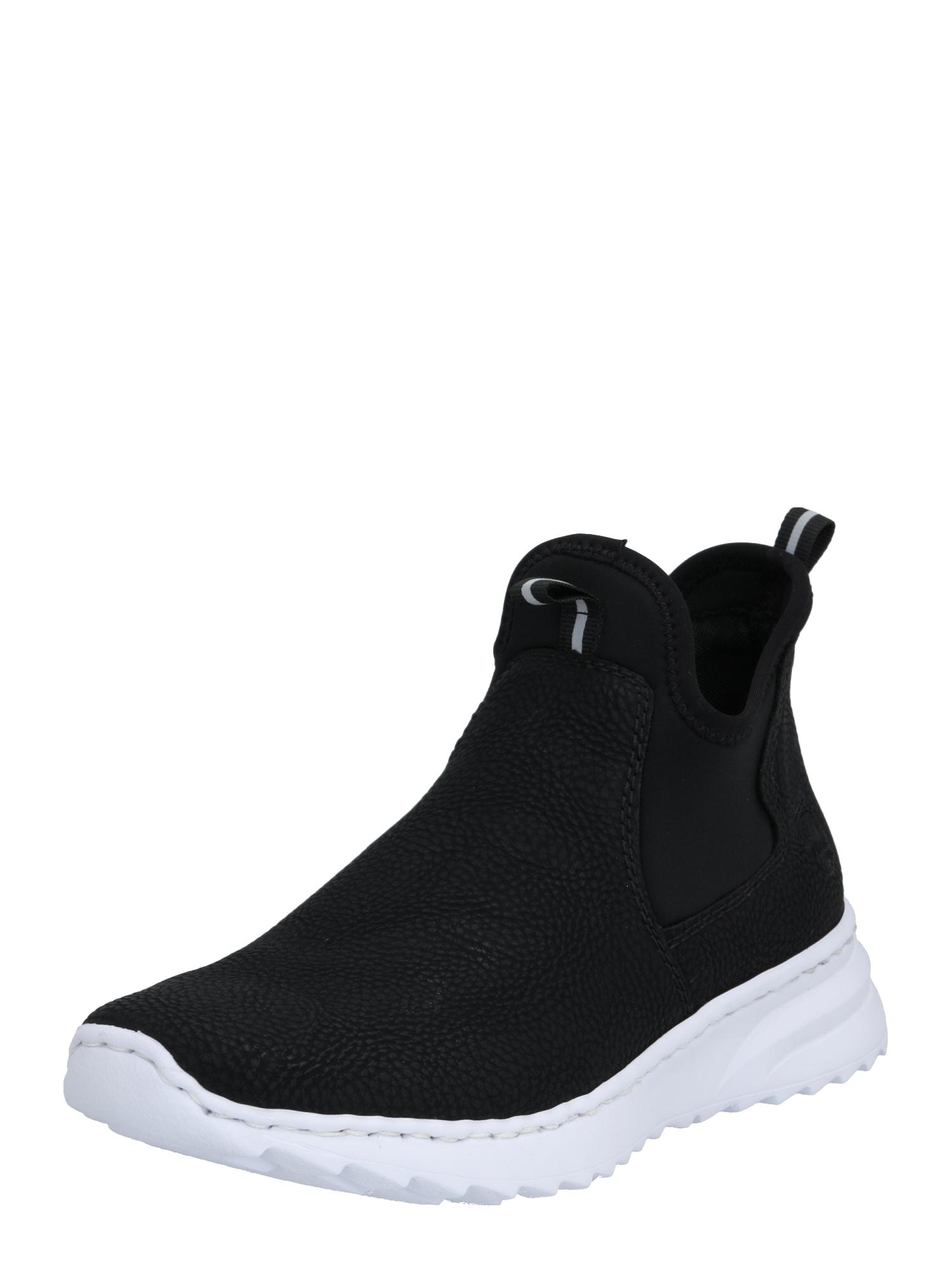 RIEKER Členkové tenisky  biela / čierna