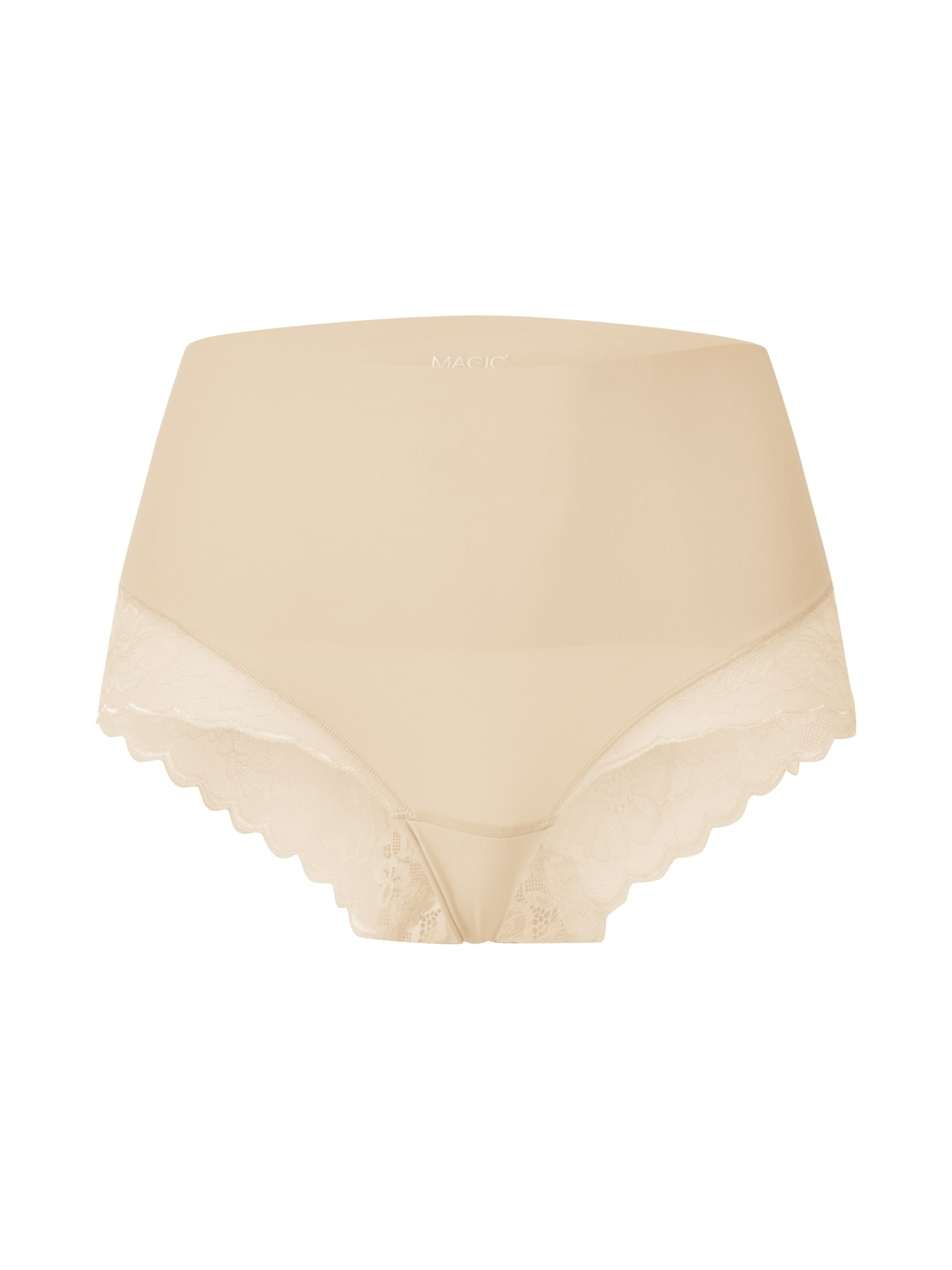 MAGIC Bodyfashion Moteriškos kelnaitės 'Tummy Shaper Lace' smėlio / balta